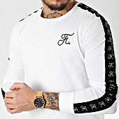 /achat-t-shirts-manches-longues/final-club-tee-shirt-manches-longues-oversize-avec-bandes-et-broderie-093-blanc-163262.html