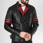 /achat-vestes-biker/frilivin-veste-biker-qq520-noir-bordeaux-163243.html