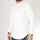 /achat-sweats-col-rond-crewneck/frilivin-sweat-crewneck-oversize-avec-zips-3877-blanc-163246.html