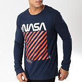 /achat-t-shirts-manches-longues/nasa-tee-shirt-manches-longues-caution-bleu-marine-163197.html