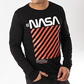 /achat-t-shirts-manches-longues/nasa-tee-shirt-manches-longues-caution-noir-163198.html