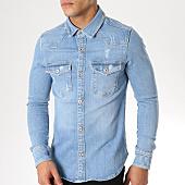 /achat-chemises-manches-longues/grj-denim-chemise-manches-longues-jean-13462-bleu-clair-163378.html