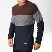 /achat-pulls/brave-soul-pull-creation-bleu-marine-gris-chine-bordeaux-163443.html