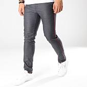 /achat-pantalons-carreaux/classic-series-pantalon-28065-noir-gris-anthracite-chine-rouge-163431.html