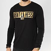 /achat-t-shirts-manches-longues/ohmondieusalva-tee-shirt-manches-longues-abat-la-hess-box-logo-noir-or-163534.html