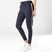 /achat-pantalons-carreaux/only-pantalon-femme-avec-bandes-poptrash-bleu-marine-blanc-rouge-163567.html