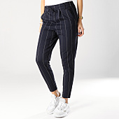 /achat-pantalons-carreaux/only-pantalon-raye-femme-poptrash-bleu-marine-163592.html