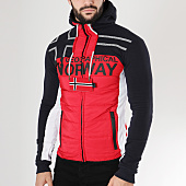 /achat-sweats-zippes-capuche/geographical-norway-sweat-capuche-zippe-gumix-rouge-bleu-marine-163637.html