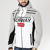 /achat-sweats-zippes-capuche/geographical-norway-sweat-capuche-zippe-gumix-blanc-gris-chine-163638.html