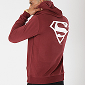 /achat-sweats-capuche/superman-sweat-capuche-back-logo-bordeaux-163725.html