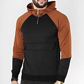 /achat-sweats-col-zippe/terance-kole-sweat-capuche-13182-noir-camel-163655.html