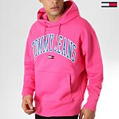 /achat-sweats-capuche/tommy-hilfiger-jeans-sweat-capuche-clean-collegiate-5911-rose-163672.html