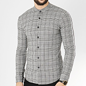 /achat-chemises-manches-longues/uniplay-chemise-manches-longues-avec-bandes-t556-gris-chine-163640.html