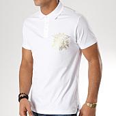 /achat-polos-manches-courtes/versace-jeans-polo-manches-courtes-print-foil-b3gta7p0-36610-blanc-dore-163754.html