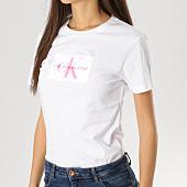 /achat-t-shirts/calvin-klein-tee-shirt-femme-flock-monogram-9738-blanc-163853.html