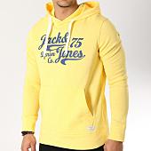 /achat-sweats-capuche/jack-and-jones-sweat-capuche-panther-jaune-163820.html