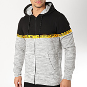 /achat-sweats-zippes-capuche/jack-and-jones-sweat-zippe-capuche-avec-bandes-ian-gris-chine-noir-jaune-163917.html