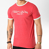/achat-t-shirts/teddy-smith-tee-shirt-ticlass-3-rouge-chine-163864.html