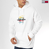 /achat-sweats-capuche/tommy-hilfiger-jeans-sweat-capuche-signature-logo-5329-blanc-163937.html