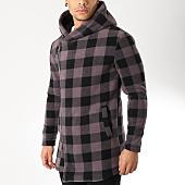 /achat-vestes/uniplay-veste-zippee-a-capuche-avec-carreaux-uy325-gris-anthracite-noir-163880.html