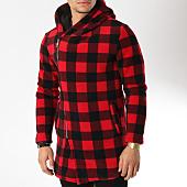 /achat-vestes/uniplay-veste-zippee-a-capuche-avec-carreaux-uy325-rouge-noir-163897.html
