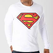 /achat-sweats-col-rond-crewneck/superman-sweat-crewneck-classic-logo-blanc-163997.html