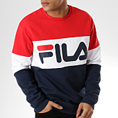 /achat-sweats-col-rond-crewneck/fila-sweat-crewneck-straight-block-681255-rouge-bleu-marine-164040.html