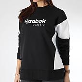/achat-sweats-col-rond-crewneck/reebok-sweat-crewneck-femme-classic-a-dy1677-noir-blanc-164063.html