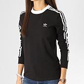 /achat-t-shirts-manches-longues/adidas-tee-shirt-manches-longues-femme-3-stripes-dv2608-noir-blanc-164227.html