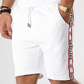 /achat-shorts-jogging/deeluxe-short-jogging-avec-bandes-puff-blanc-164115.html