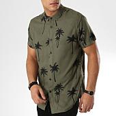 /achat-chemises-manches-courtes/deeluxe-chemise-manches-courtes-prince-vert-kaki-floral-164119.html