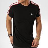/achat-t-shirts-longs-oversize/deeluxe-tee-shirt-oversize-bandes-bordees-bando-noir-164148.html