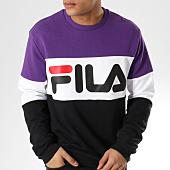 /achat-sweats-col-rond-crewneck/fila-sweat-crewneck-straight-block-681255-noir-violet-blanc-164114.html