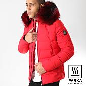 /achat-parkas/comme-des-loups-doudoune-chauffante-fourrure-moscou-rouge-noir-164251.html
