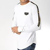 /achat-t-shirts-longs-oversize/gianni-kavanagh-tee-shirt-oversize-manches-longues-gold-lurex-ribbon-blanc-noir-dore-164270.html