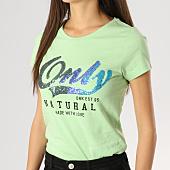 /achat-t-shirts/only-tee-shirt-femme-amy-print-box-vert-pomme-164299.html