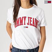 /achat-t-shirts/tommy-hilfiger-jeans-tee-shirt-femme-collegiate-05703-logo-blanc-164232.html
