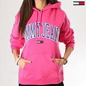 /achat-sweats-capuche/tommy-hilfiger-jeans-sweat-capuche-clean-collegiate-6006-rose-164235.html