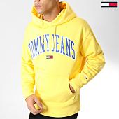/achat-sweats-capuche/tommy-hilfiger-jeans-sweat-capuche-clean-collegiate-5911-jaune-164261.html