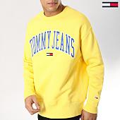 /achat-sweats-col-rond-crewneck/tommy-hilfiger-jeans-sweat-crewneck-clean-collegiate-5945-jaune-164262.html
