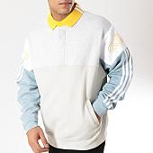 /achat-sweats-col-zippe/adidas-sweat-col-polo-rugby-dv3147-ecru-gris-chine-bleu-clair-164318.html