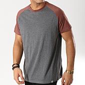 /achat-t-shirts/element-tee-shirt-basic-raglan-gris-anthracite-chine-bordeaux-164434.html