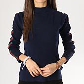 /achat-pulls/girls-only-pull-femme-avec-bandes-aw826-bleu-marine-164390.html