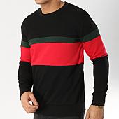 /achat-sweats-col-rond-crewneck/lbo-sweat-crewneck-tricolore-582-noir-rouge-vert-164344.html