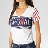 /achat-t-shirts/kaporal-tee-shirt-femme-bowel-blanc-164456.html
