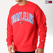 /achat-sweats-col-rond-crewneck/tommy-hilfiger-jeans-sweat-crewneck-clean-collegiate-5945-rouge-164450.html