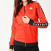 /achat-vestes/kappa-veste-zippee-femme-avec-bandes-icepop-rouge-noir-164639.html