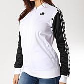/achat-vestes/kappa-veste-zippee-femme-avec-bandes-icepop-blanc-noir-164640.html