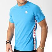 /achat-t-shirts/kappa-tee-shirt-a-bandes-authentic-anders-303hnk0-bleu-clair-164647.html