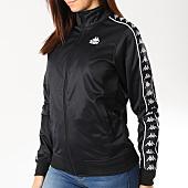 /achat-vestes/kappa-veste-zippee-femme-avec-bandes-chupa-noir-blanc-164652.html